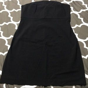 Express Stretch Black Fitted Strapless Dress